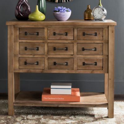 Safavieh Mendie Accent Chest In Natural Oak