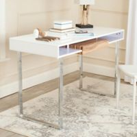 Safavieh Metropolitan Desk in White/Chrome