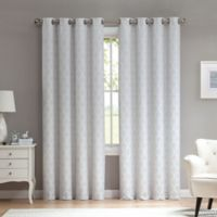 Marrakesh 63-Inch Grommet Top Window Curtain Panel in Stone