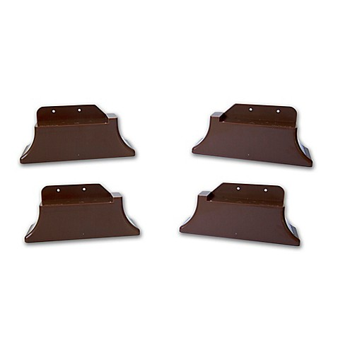 Recliner Risers In Brown Set Of 4 Bed Bath Amp Beyond