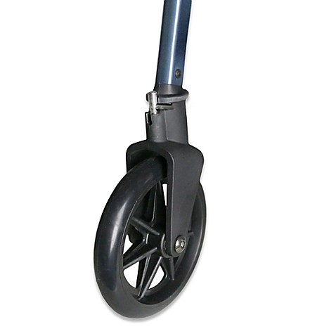 Walker Replacement Locking And Swivel Wheels In Black Set