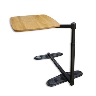 Delightful Universal Swivel TV Tray Table In Brown