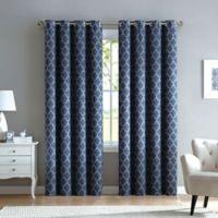 Marrakesh 108-Inch Grommet Top Window Curtain Panel in Navy