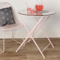 Kate and Laurel Thrapston Dining Table in Pink