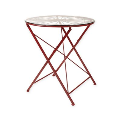 Kate And Laurel Thrapston Dining Table In Red