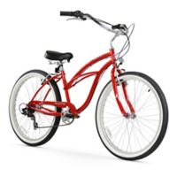 "Firmstrong Urban Lady 26"" Seven Speed Beach Cruiser Bicycle in Red"