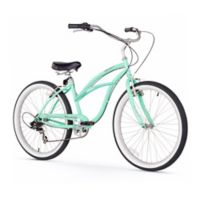 "Firmstrong Urban Lady 26"" Seven Speed Beach Cruiser Bicycle in Mint Green"