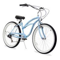 "Firmstrong Urban Lady 26"" Seven Speed Beach Cruiser Bicycle in Baby Blue"