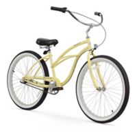 "Firmstrong Urban Lady 26"" Three Speed Beach Cruiser Bicycle in Vanilla"
