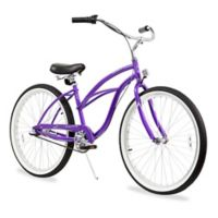 "Firmstrong Urban Lady 26"" Three Speed Beach Cruiser Bicycle in Purple"