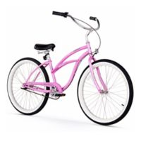 "Firmstrong Urban Lady 26"" Three Speed Beach Cruiser Bicycle in Pink"