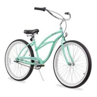 "Firmstrong Urban Lady 26"" Three Speed Beach Cruiser Bicycle in Mint Green"