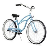 "Firmstrong Urban Lady 26"" Three Speed Beach Cruiser Bicycle in Baby Blue"