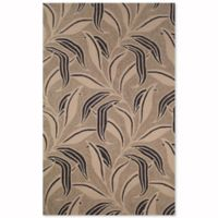 Liora Manne Ravella Leaf 8-Foot 3-Inch x 11-Foot 6-Inch Indoor/Outdoor Area Rug in Neutral