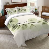 Laural Home® Eucalyptus X-Ray Twin Comforter in Green/Ivory