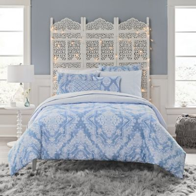 anthology tamara queen comforter set in blue