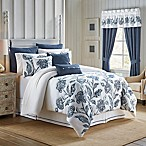 Croscill® Clayra King Comforter Set in White/Blue