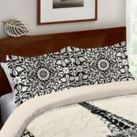Laural Home® Eiffel Tower Border Standard Pillow Sham in Black/Beige