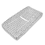 TL Care® Mix & Match Heavenly Soft Chenille Contoured Changing Pad Cover in Grey Honeycomb