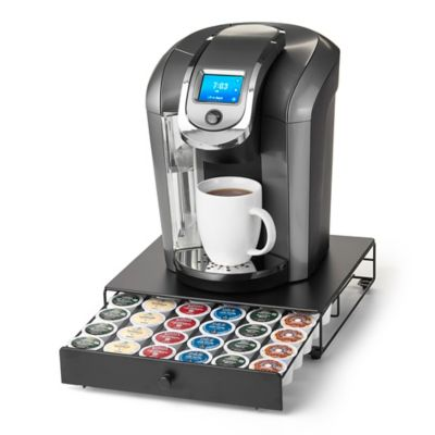 Buy Nifty Keurig K-cup 36-Capacity Glass-Top Rolling Drawer from Bed Bath & Beyond