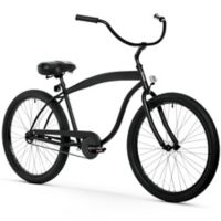 "sixthreezero Men's In the Barrel 26"" Single Speed Beach Cruiser Bicycle in Matte Black"