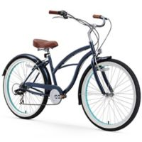 "sixthreezero Women's Classic Edition 26"" Seven Speed Beach Cruiser Bicycle in Dark Blue"