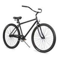 "Firmstrong Men's Black Rock 29"" Single Speed Beach Cruiser Bicycle in Matte Black"