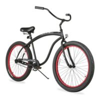 "Firmstrong Man Bruiser 3.0 26"" Single Speed Beach Cruiser Bicycle in Matte Black"