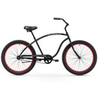 "Firmstrong Men's Chief 3.0 26"" Single Speed Beach Cruiser Bicycle in Matte Black"