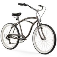 "Firmstrong Urban Man 26"" Seven Speed Beach Cruiser Bicycle in Matte Grey"
