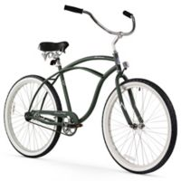 "Firmstrong Urban Man 26"" Single Speed Beach Cruiser Bicycle in Matte Army Green"