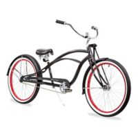 Firmstrong Urban Man Deluxe Men's 26-Inch 1-Speed Beach Cruiser Bike in Matte Black/Red
