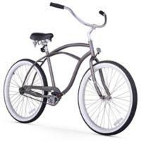 "Firmstrong Urban Man 26"" Single Speed Beach Cruiser Bicycle in Matte Grey"