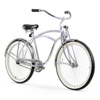 "Firmstrong Urban Man LRD 26"" Single Speed Beach Cruiser Bicycle in Chrome"