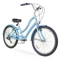"Firmstrong Women's CA-520 26"" Seven Speed Beach Cruiser Bicycle in Baby Blue"