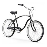 "Firmstrong Chief Man 26"" Three Speed Beach Cruiser Bicycle in Black"