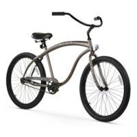 "Firmstrong Men's Bruiser 26"" Single Speed Beach Cruiser Bicycle in Matte Grey"