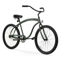 "Firmstrong Men's Bruiser 26"" Single Speed Beach Cruiser Bicycle in Matte Army Green"