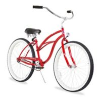 "Firmstrong Urban Lady 26"" Single Speed Beach Cruiser Bicycle in Red"