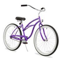 "Firmstrong Urban Lady 26"" Single Speed Beach Cruiser Bicycle in Purple"