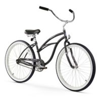 "Firmstrong Urban Lady 26"" Single Speed Beach Cruiser Bicycle in Matte Black"