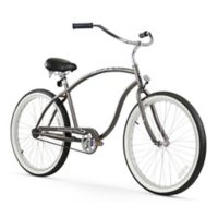 "Firmstrong Chief Man 26"" Single Speed Beach Cruiser Bicycle in Matte Grey"