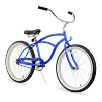 "Firmstrong Urban Man 24"" Single Speed Beach Cruiser Bicycle in Royal Blue"