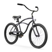 "Firmstrong Urban Man 24"" Single Speed Beach Cruiser Bicycle in Matte Black"