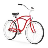 "Firmstrong Urban Man 26"" Single Speed Beach Cruiser Bicycle in Red"