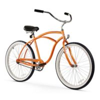 "Firmstrong Urban Man 26"" Single Speed Beach Cruiser Bicycle in Orange"