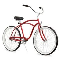 "Firmstrong Urban Man 26"" Single Speed Beach Cruiser Bicycle in Matte Red"