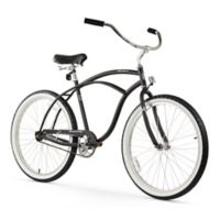 "Firmstrong Urban Man 26"" Single Speed Beach Cruiser Bicycle in Matte Black"