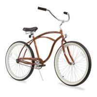 "Firmstrong Urban Man 26"" Single Speed Beach Cruiser Bicycle in Gloss Brown"