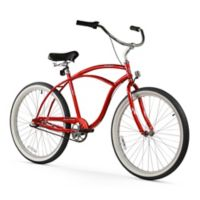 "Firmstrong Urban Man 26"" Three Speed Beach Cruiser Bicycle in Red"